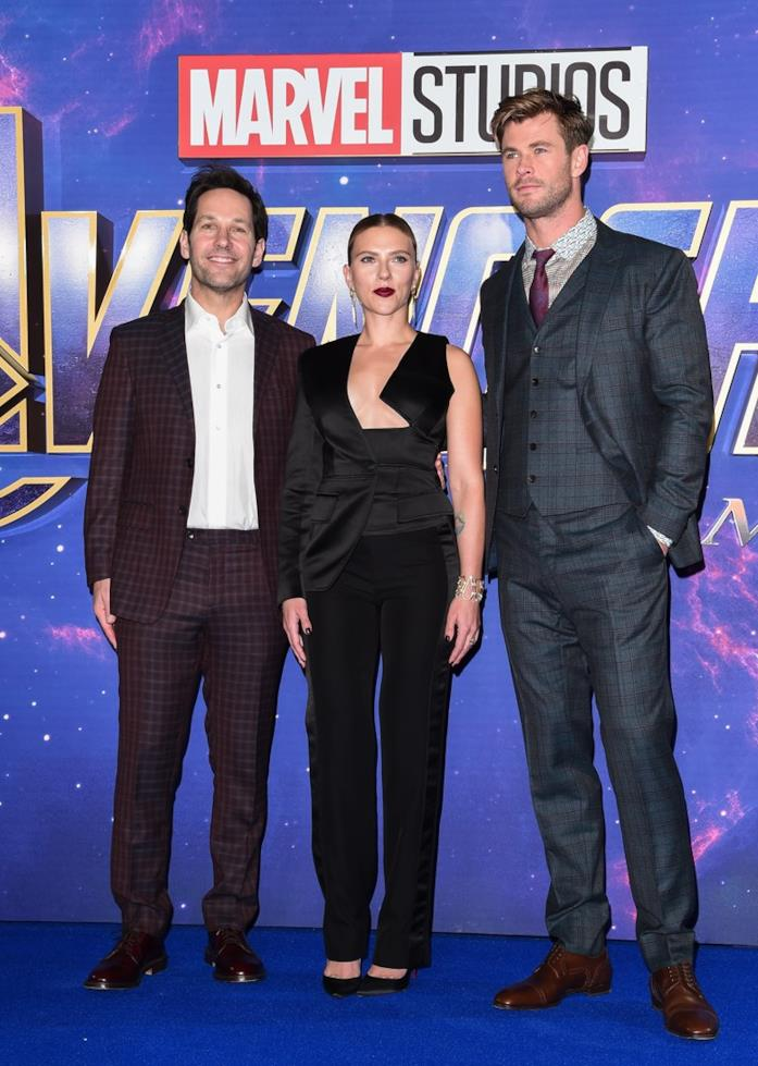 Scarlett Johansson, Paul Rudd e Chris Hemsworth a un evento Avengers