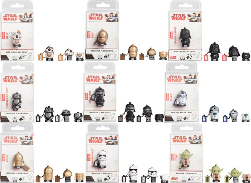 Chiavette uSb con i personaggi di Gli Ultimi Jedi