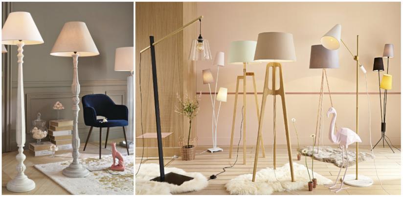 Lampade con piantane in vari materiali e colori in stile classico Maisons du Monde