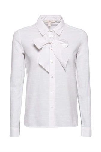 Camicia bianca con fiocco