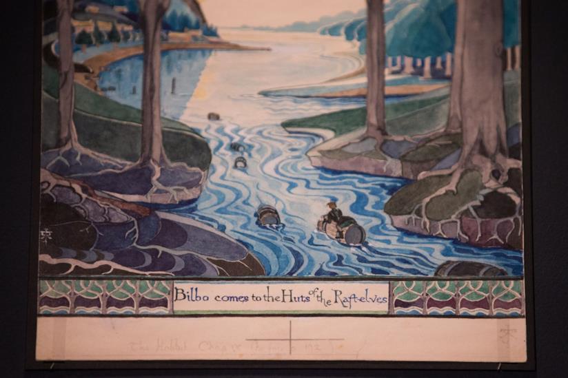 Tolkien: Maker of Middle-earth, un'illustrazione in mostra all'evento