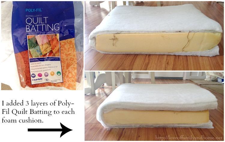 Nuova imbottitura per i cuscini della seduta del divano