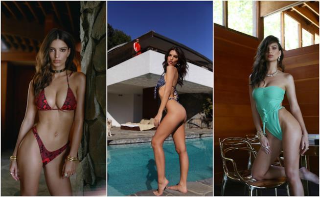 Costumi Da Bagno Bianchi 2014 : Emily ratajkowski indossa i costumi da bagno più hot per l estate