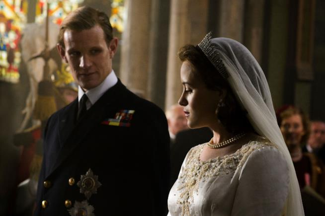 Matt Smith e Claire Foy in The Crown