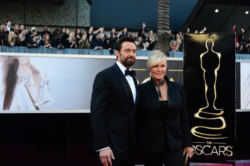 Hugh Jackman e la moglie Deborra agli Oscar