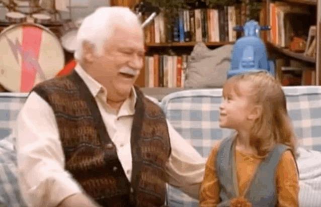 Nonno e nipotina