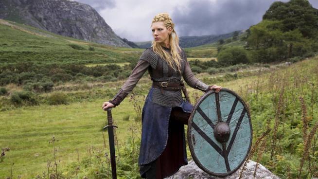 Katheryn Winnick nei panni di Lagertha nella serie Vikings