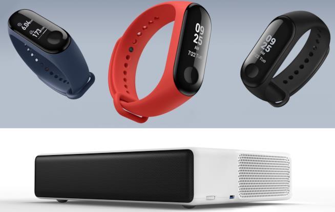 """Nuovi prodotti Xiaomi Mi Band 3 e Mi Laser Projector 150"""""""