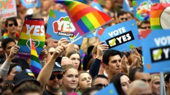 Le manifestazioni a sostegno del matrimonio omosessuale