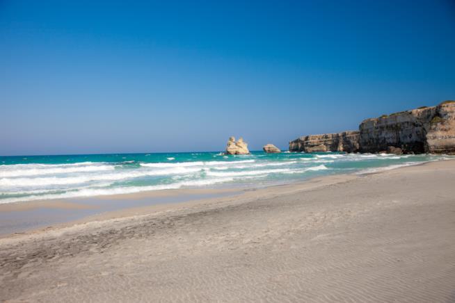 Spiaggia del Salento: sabbia fine e mare turchese