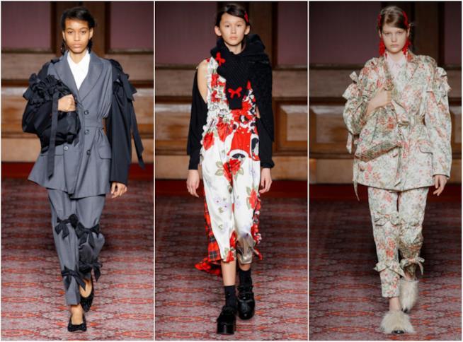 I fiocchi disseminati sugli outfit di Simone Rocha