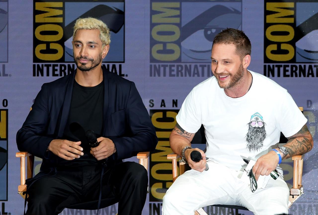 Riz Ahmed e Tom Hardy al San Diego Comic-Con