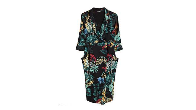 Abito a kimono Dixie con fantasia floreale