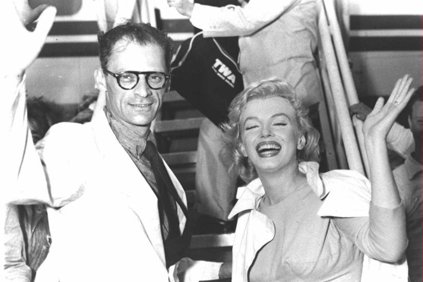 Marilyn Monroe con Arthur Miller