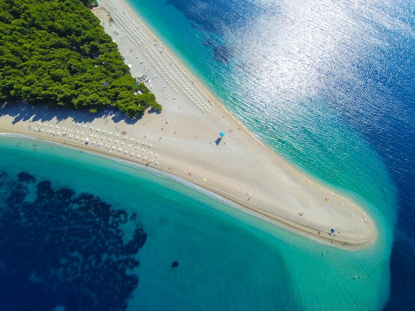 Spiaggia di Zlatni Rat, Isola di Brač
