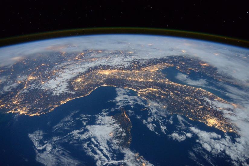 L'Italia vista dall'alto.