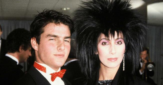 Tom Cruise con la cantante Cher ai tempi della loro storia
