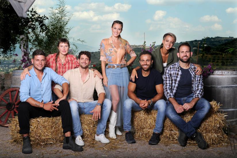 Diletta Leotta insieme al cast de Il Contadino Cerca Moglie 4