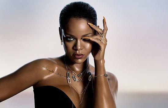 Rihanna nella foto promozionale della collezione per Chopard