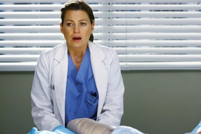 Ellen Pompeo Meredith Grey in una scena della stagione 5 di Grey's Anatomy