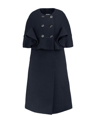 Cappotto doppiopetto blu scuro