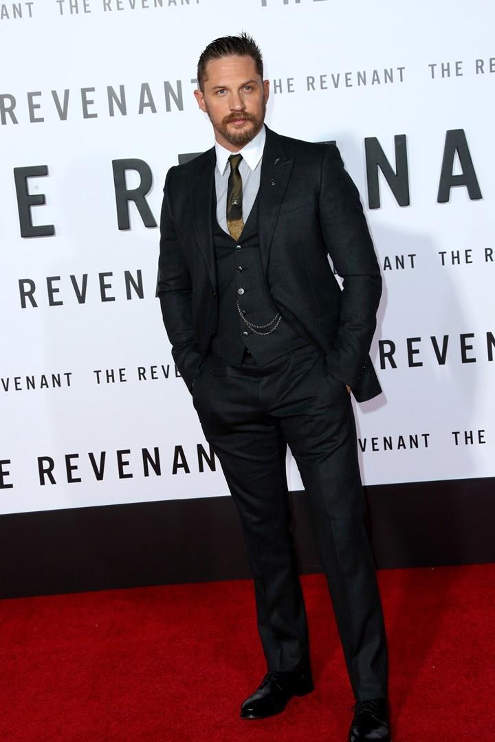 Tom Hardy sul red carpet della premiere di The Revenant