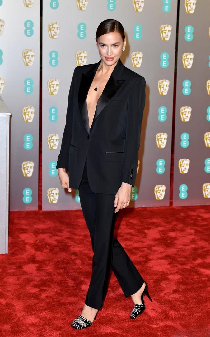 Irina Shayk sul red carpet dei BAFTA