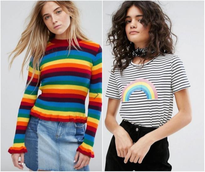 Maglione e t-shirt Arcobaleno