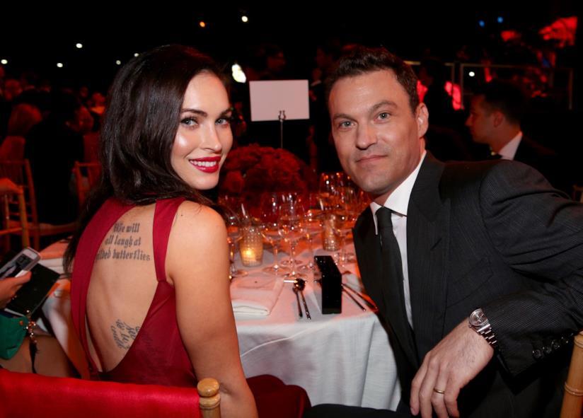 Brian Austin Green e Megan Fox a tavola