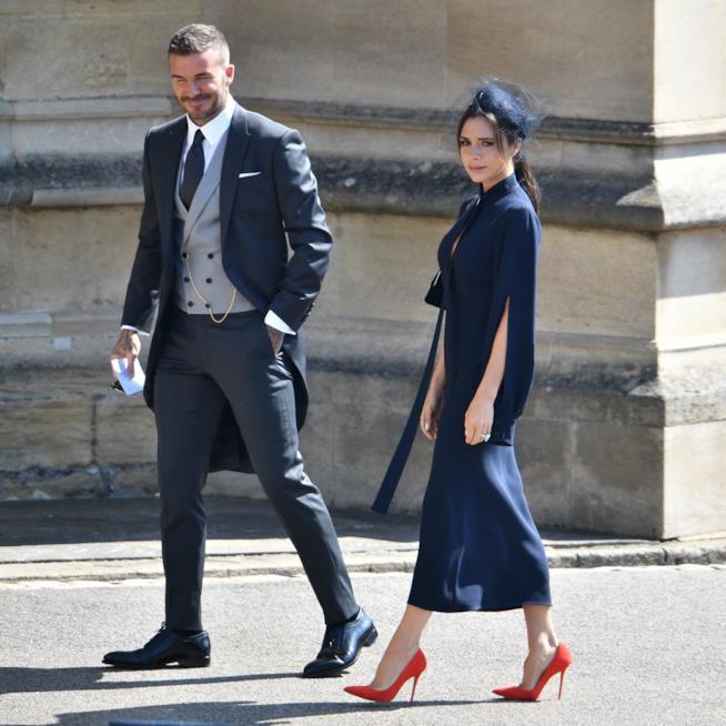 David e Victoria Beckham al Royal Wedding