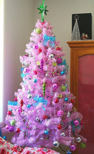 Albero di Natale rosa