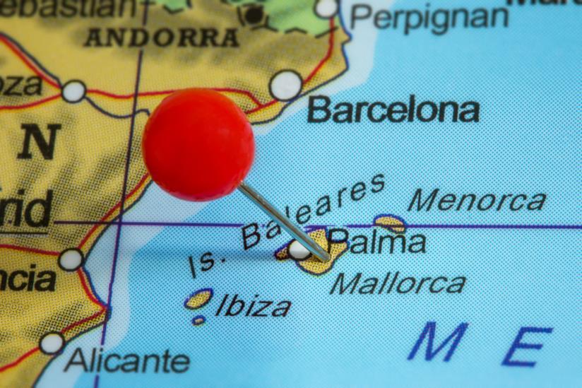 Cartina delle Baleari