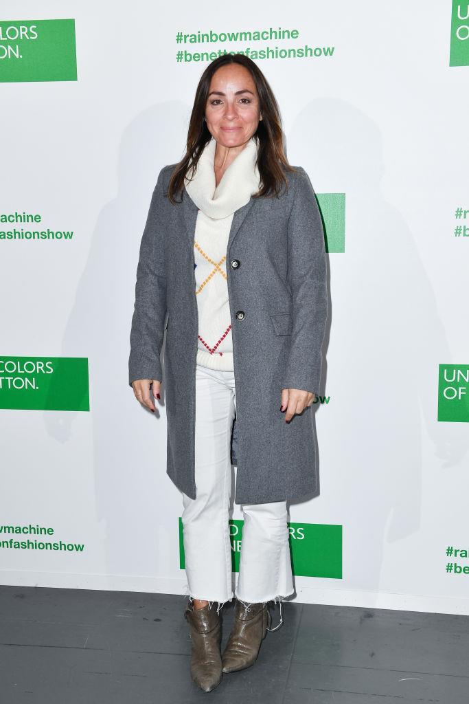 Camila Raznovich assiste ala sfilata Benetton