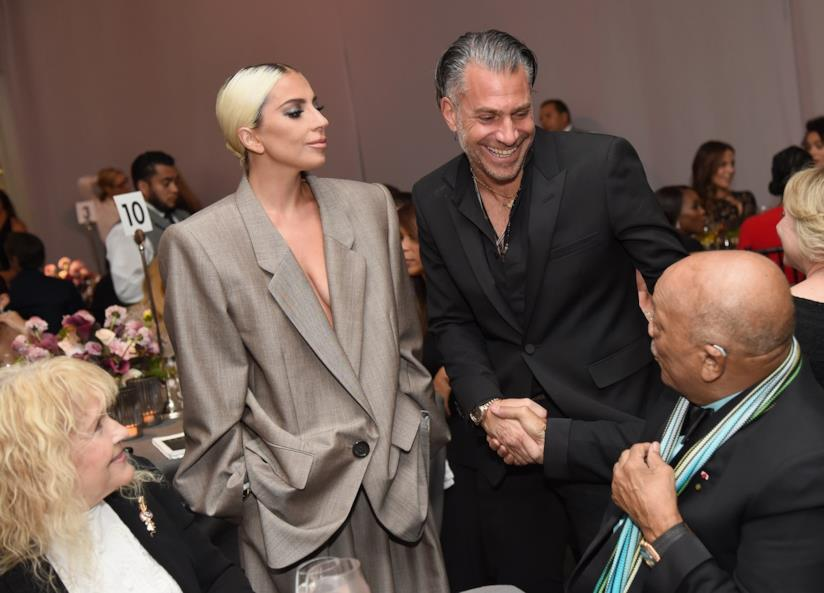 Lady Gaga e Christiano Carino a un evento