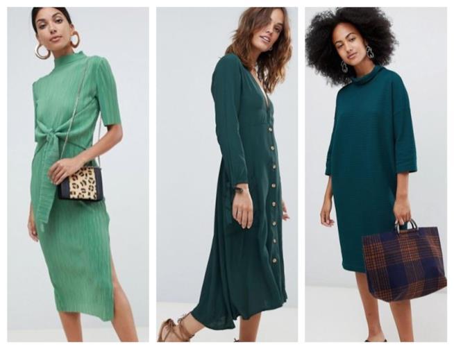 Il verde è di moda  vestiti 1e8ced8e4d9