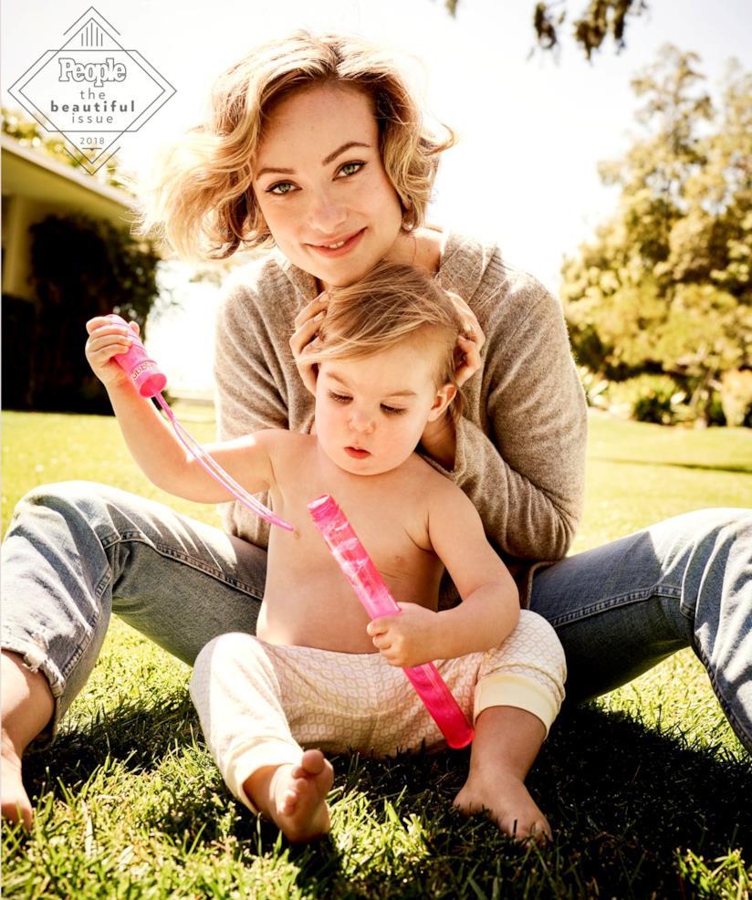 Olivia Wilde con il figlio Otis