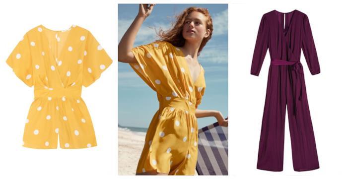 Corte e lunghe, le tute beachwear per l'estate 2018
