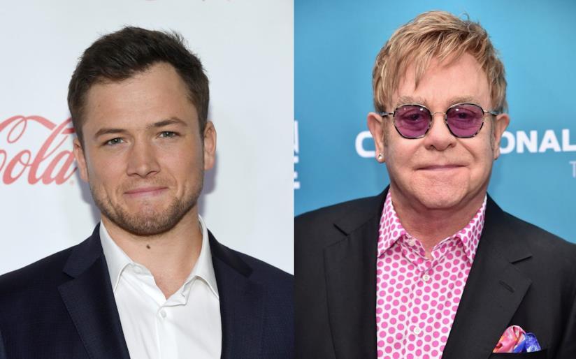 L'attore Taron Egerton e il cantante Elton John