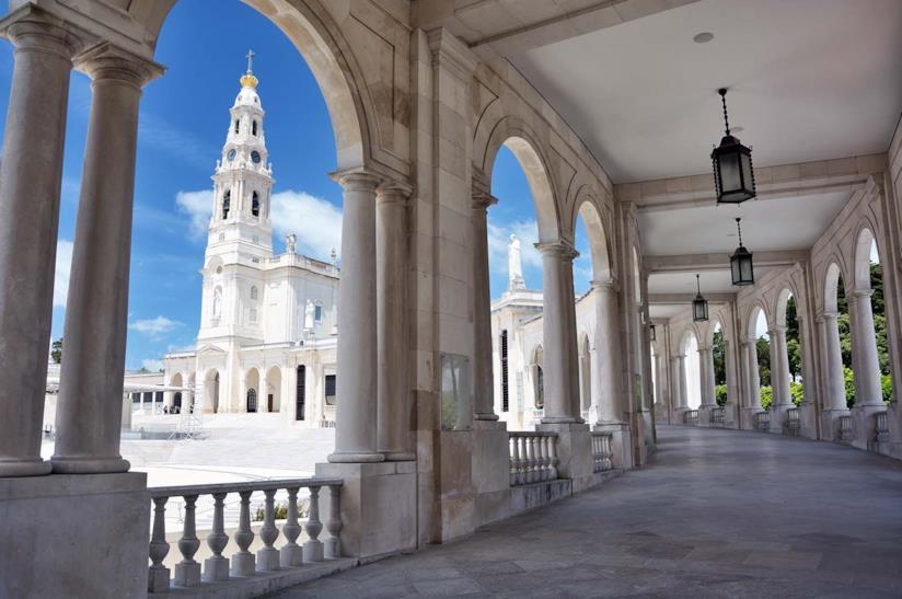 Colonnato del Santuario della Madonna di Fatima in Portogallo