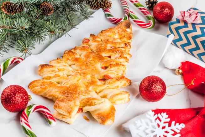 Albero di Natale di pasta sfoglia salato