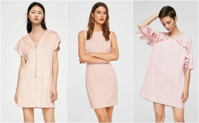 Vestiti corti in rosa moda P/E 2018