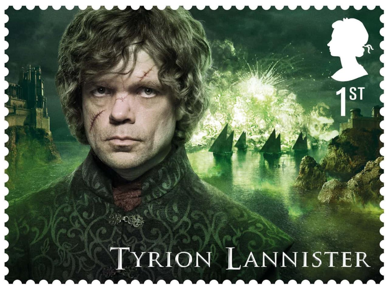 Tyrion Lannister in uno dei francobolli Royal Mail