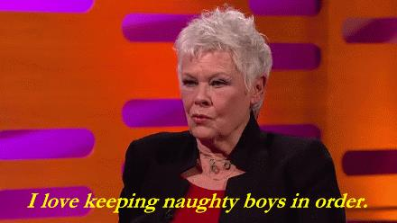 L'attrice Judi Dench in un'intervista