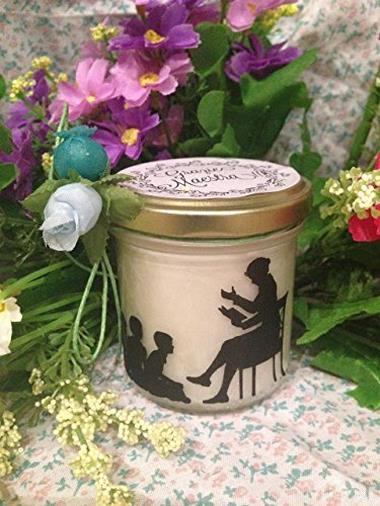 Vasetto con candela con aroma a scelta