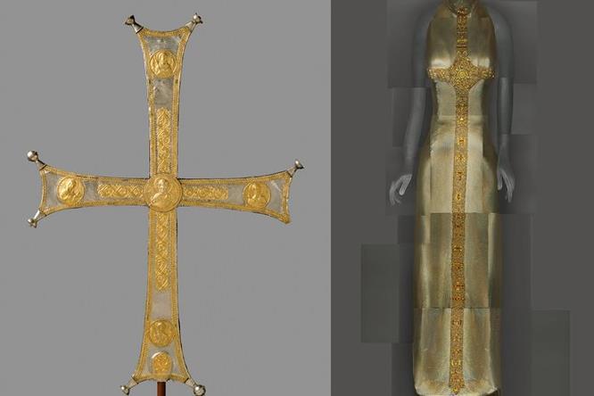Processional cross, Byzantine e modello di Gianni Versace
