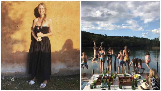Alcuni scatti delle vacanze in Umbria condivisi da Gwyneth Paltrow
