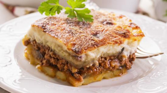 Lasagnette gratinate con sedano rapa e prosciutto cotto
