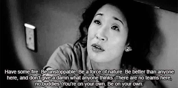 Uno dei discorsi di Cristina Yang