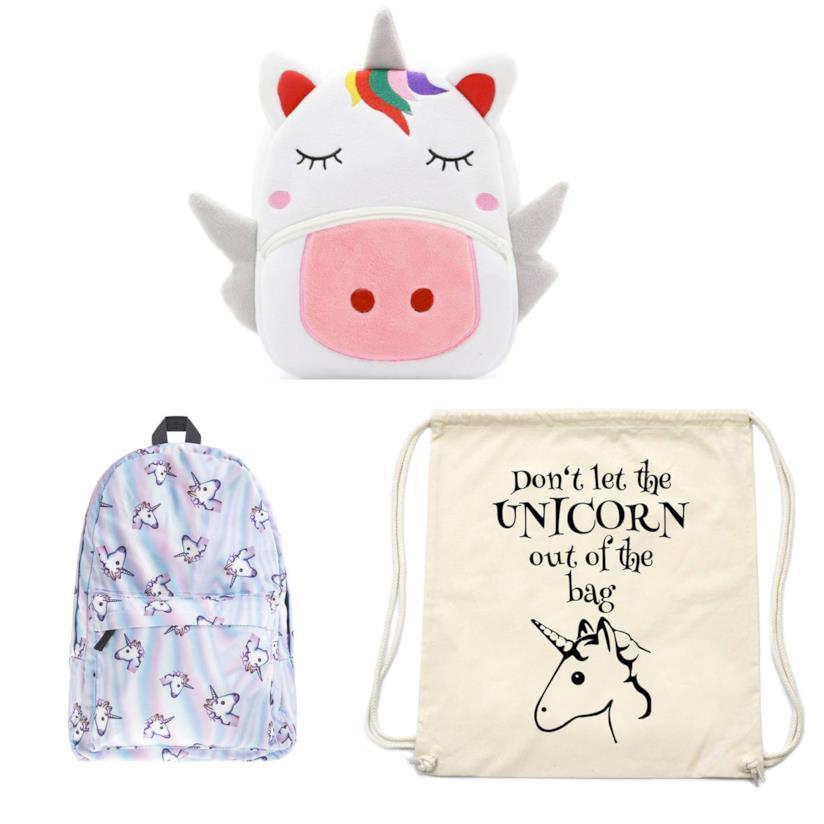 Zaini a tema unicorno