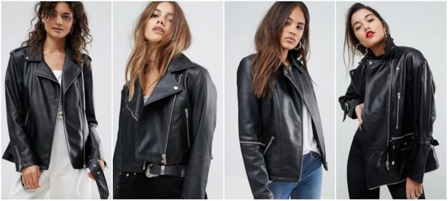Collage di giacche in pelle da biker
